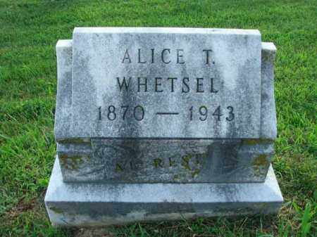 WHETSEL, ALICE T. - Fairfield County, Ohio | ALICE T. WHETSEL - Ohio Gravestone Photos