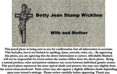 WICKLINE, BETTY JEAN - Fairfield County, Ohio | BETTY JEAN WICKLINE - Ohio Gravestone Photos