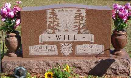 WILL, CARRIE ETTA - Fairfield County, Ohio | CARRIE ETTA WILL - Ohio Gravestone Photos