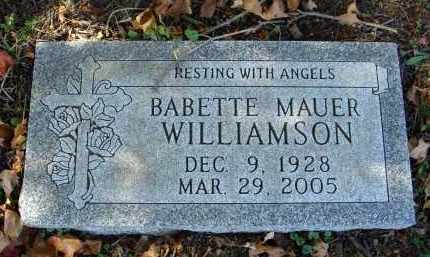 MAUER WILLIAMSON, BABETTE - Fairfield County, Ohio | BABETTE MAUER WILLIAMSON - Ohio Gravestone Photos