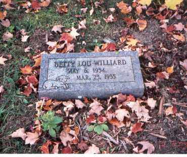 WILLIARD, BETTY LOU - Fairfield County, Ohio | BETTY LOU WILLIARD - Ohio Gravestone Photos