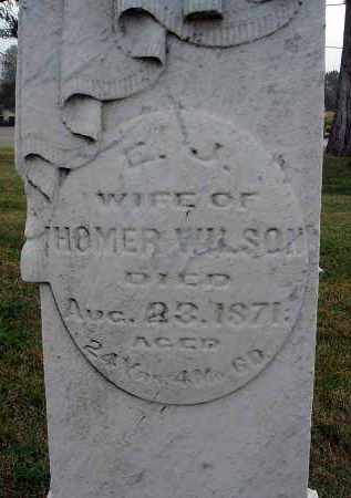 WILSON, E. J. - Fairfield County, Ohio | E. J. WILSON - Ohio Gravestone Photos