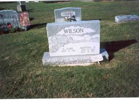 WILSON, MARTHA A. - Fairfield County, Ohio | MARTHA A. WILSON - Ohio Gravestone Photos