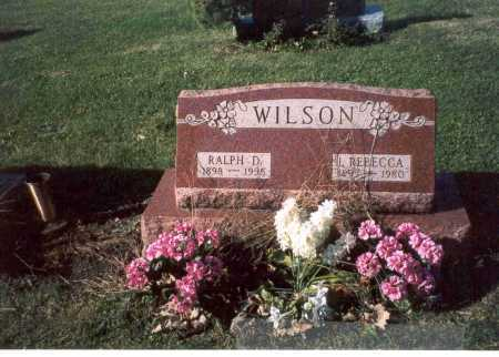 WILSON, RALPH D. - Fairfield County, Ohio | RALPH D. WILSON - Ohio Gravestone Photos