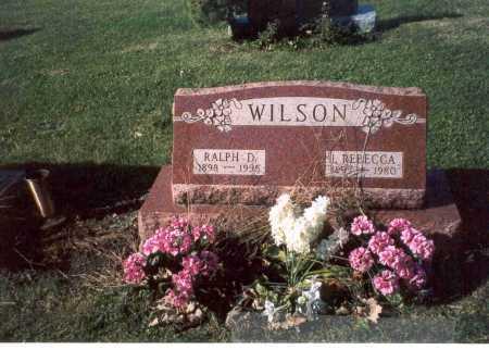WILSON, REBECCA - Fairfield County, Ohio | REBECCA WILSON - Ohio Gravestone Photos