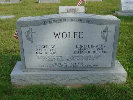WOLFE, ROGER W. - Fairfield County, Ohio | ROGER W. WOLFE - Ohio Gravestone Photos