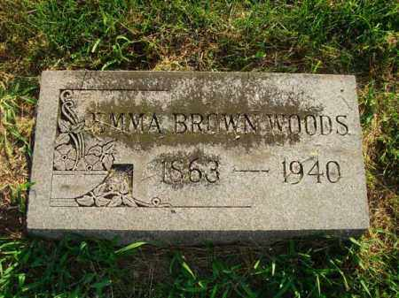 BROWN WOODS, EMMA - Fairfield County, Ohio | EMMA BROWN WOODS - Ohio Gravestone Photos