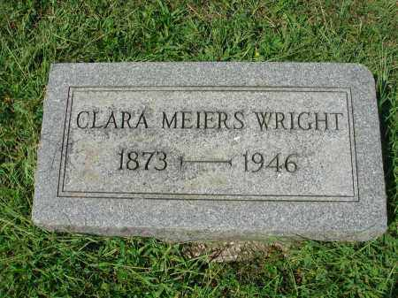 MEIERS WRIGHT, CLARA - Fairfield County, Ohio | CLARA MEIERS WRIGHT - Ohio Gravestone Photos