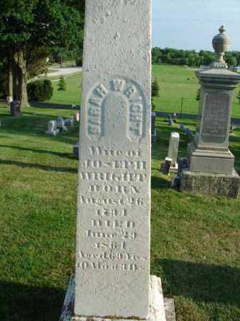 WRIGHT, SARAH - Fairfield County, Ohio | SARAH WRIGHT - Ohio Gravestone Photos