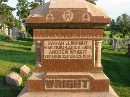 WRIGHT, SARAH J. - Fairfield County, Ohio | SARAH J. WRIGHT - Ohio Gravestone Photos