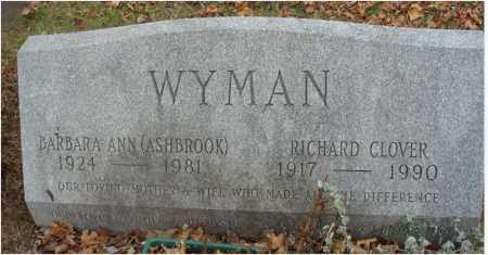 WYMAN, RICHARD CLOVER - Fairfield County, Ohio | RICHARD CLOVER WYMAN - Ohio Gravestone Photos