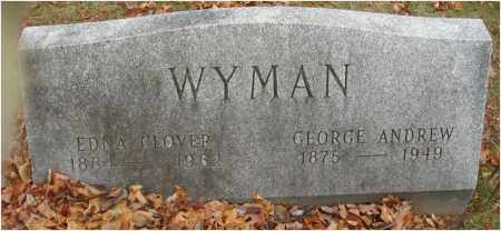 WYMAN, GEORGE ANDREW - Fairfield County, Ohio | GEORGE ANDREW WYMAN - Ohio Gravestone Photos