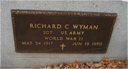WYMAN, RICHARD C. - Fairfield County, Ohio | RICHARD C. WYMAN - Ohio Gravestone Photos