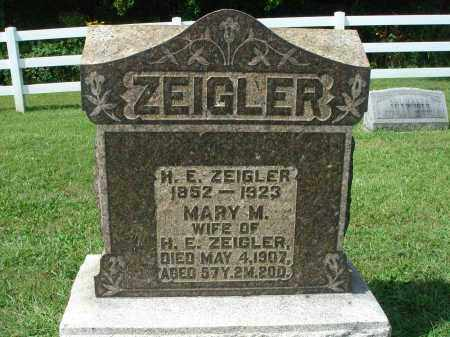 ZEIGLER, MARY M. - Fairfield County, Ohio | MARY M. ZEIGLER - Ohio Gravestone Photos