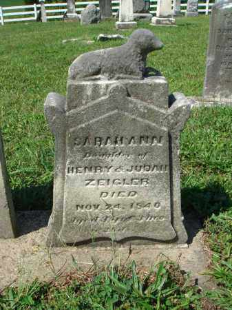ZEIGLER, SARAH ANN - Fairfield County, Ohio | SARAH ANN ZEIGLER - Ohio Gravestone Photos