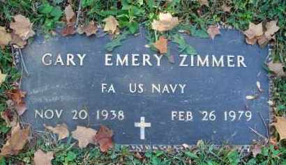 ZIMMER, GARY EMERY - Fairfield County, Ohio | GARY EMERY ZIMMER - Ohio Gravestone Photos