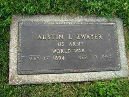 ZWAYER, AUSTIN L. - Fairfield County, Ohio | AUSTIN L. ZWAYER - Ohio Gravestone Photos