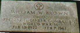 BROWN, WILLIAM - Fayette County, Ohio | WILLIAM BROWN - Ohio Gravestone Photos