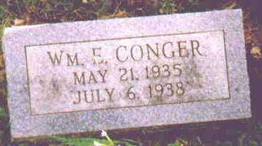 CONGER, WILLIAM E - Fayette County, Ohio | WILLIAM E CONGER - Ohio Gravestone Photos