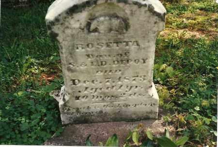DEPOY, ROSETTA - Fayette County, Ohio | ROSETTA DEPOY - Ohio Gravestone Photos