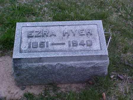 HYER, EZRA - Fayette County, Ohio | EZRA HYER - Ohio Gravestone Photos
