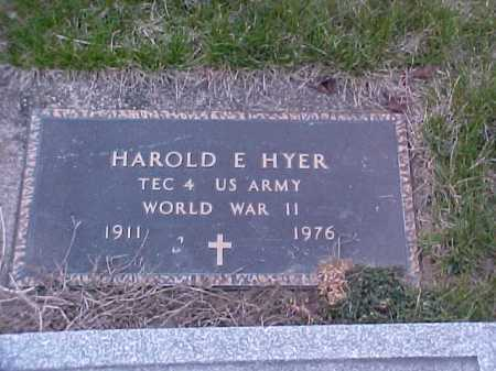 HYER, HARRY E. - Fayette County, Ohio | HARRY E. HYER - Ohio Gravestone Photos