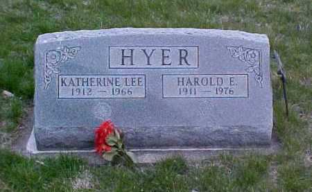 HYER, KATHERINE LEE - Fayette County, Ohio | KATHERINE LEE HYER - Ohio Gravestone Photos