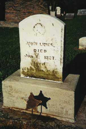 LIMES, JOHN - Fayette County, Ohio | JOHN LIMES - Ohio Gravestone Photos