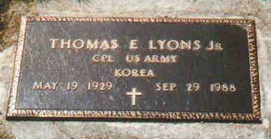 LYONS, THOMAS E - Fayette County, Ohio | THOMAS E LYONS - Ohio Gravestone Photos