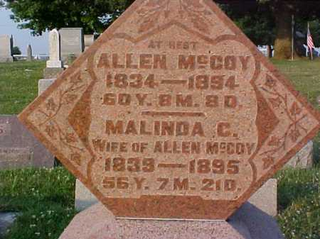 MCCOY, ALLEN - Fayette County, Ohio | ALLEN MCCOY - Ohio Gravestone Photos