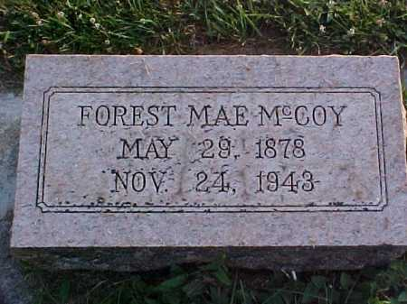 MCCOY, FOREST MAE - Fayette County, Ohio | FOREST MAE MCCOY - Ohio Gravestone Photos
