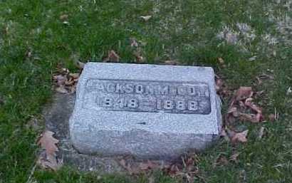 MCCOY, JACKSON - Fayette County, Ohio | JACKSON MCCOY - Ohio Gravestone Photos