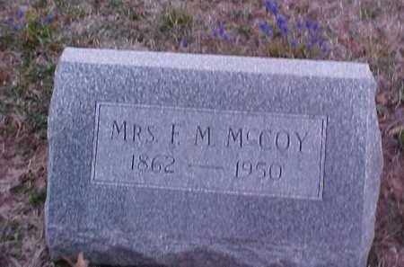MCCOY, MRS. F.M. - Fayette County, Ohio | MRS. F.M. MCCOY - Ohio Gravestone Photos