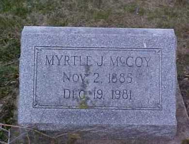 MCCOY, MYRTLE J. - Fayette County, Ohio | MYRTLE J. MCCOY - Ohio Gravestone Photos