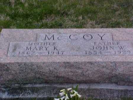 MCCOY, MARY K. - Fayette County, Ohio | MARY K. MCCOY - Ohio Gravestone Photos