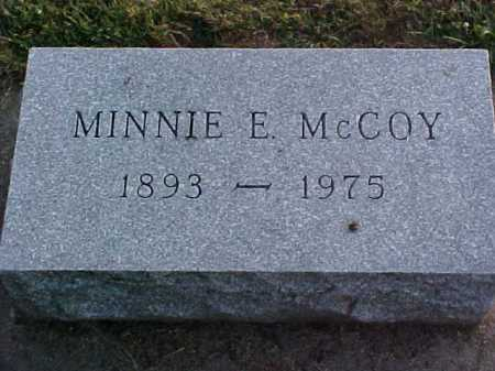 MCCOY, MINNIE E - Fayette County, Ohio | MINNIE E MCCOY - Ohio Gravestone Photos