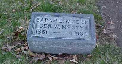 MCCOY, SARAH E. - Fayette County, Ohio | SARAH E. MCCOY - Ohio Gravestone Photos