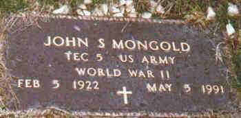 MONGOLD, JOHN - Fayette County, Ohio | JOHN MONGOLD - Ohio Gravestone Photos