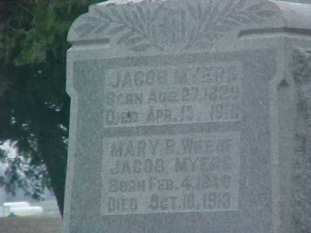 MYERS, JACOB - Fayette County, Ohio | JACOB MYERS - Ohio Gravestone Photos