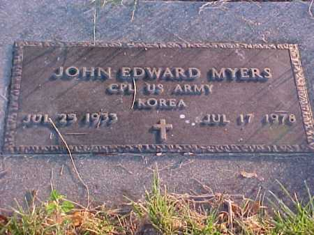 MYERS, JOHN EDWARD - Fayette County, Ohio | JOHN EDWARD MYERS - Ohio Gravestone Photos
