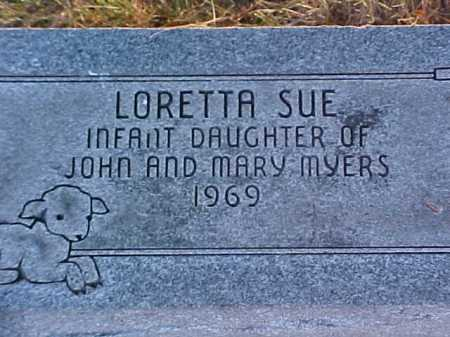 MYERS, LORETTA SUE - Fayette County, Ohio | LORETTA SUE MYERS - Ohio Gravestone Photos
