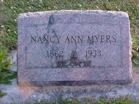 MYERS, NANCY ANN - Fayette County, Ohio   NANCY ANN MYERS - Ohio Gravestone Photos