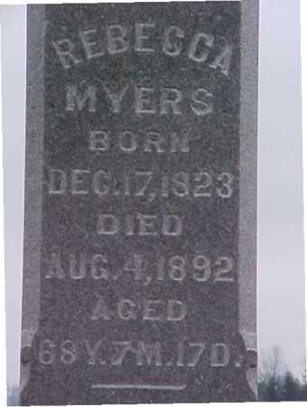 MYERS, REBECCA - Fayette County, Ohio | REBECCA MYERS - Ohio Gravestone Photos