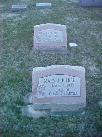 PIERCE, MARY I. - Fayette County, Ohio | MARY I. PIERCE - Ohio Gravestone Photos
