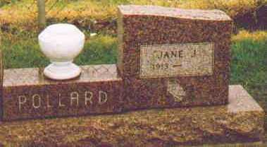 VANPELT POLLARD, JANE J - Fayette County, Ohio | JANE J VANPELT POLLARD - Ohio Gravestone Photos