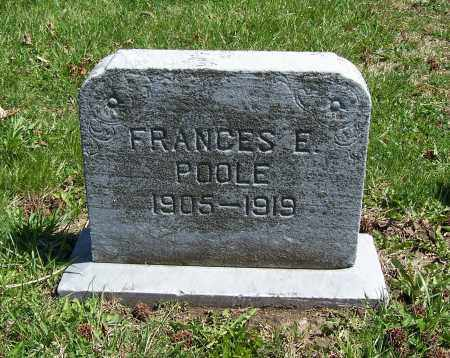 POOLE, FRANCES E. - Fayette County, Ohio | FRANCES E. POOLE - Ohio Gravestone Photos