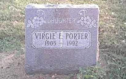 DEWITT PORTER, VIRGIE E - Fayette County, Ohio | VIRGIE E DEWITT PORTER - Ohio Gravestone Photos