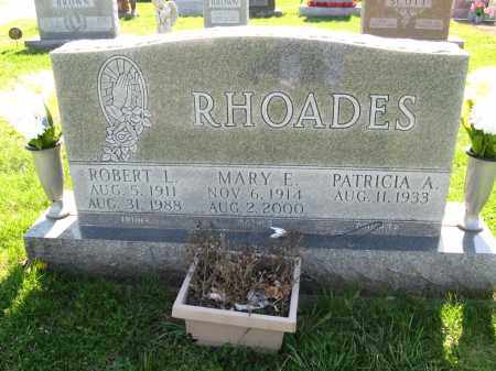 RHOADES, MARY E - Fayette County, Ohio | MARY E RHOADES - Ohio Gravestone Photos