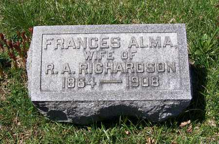 UNDERWOOD RICHARDSON, FRANCES ALMA - Fayette County, Ohio | FRANCES ALMA UNDERWOOD RICHARDSON - Ohio Gravestone Photos