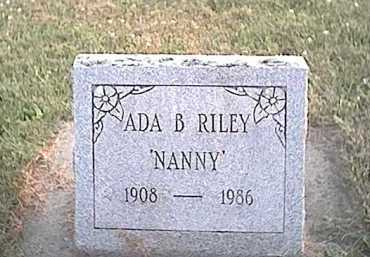 DEWITT RILEY, ADA BERTHA - Fayette County, Ohio | ADA BERTHA DEWITT RILEY - Ohio Gravestone Photos